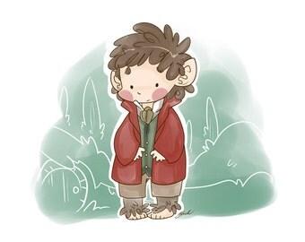 Bilbo Baggins - Hobbit - Fanart Print