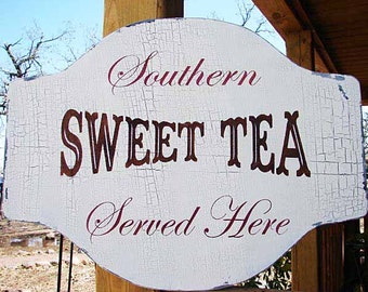Southern SWEET TEA Sign **Reusable 2 part Stencil** - 5 Sizes Available- Create your own Southern Signs!