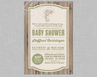 Fishing/Fish Theme Baby Shower Invitation