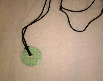 green washer pendant necklace