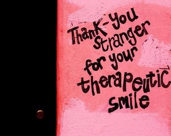 Street Art Photography - Graffiti Print - Thank You Stranger - Brick Lane - London