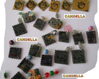 Creatice supplies/jewelry/clays beads/mix  polymer clay charms stamp with animals,birds.....