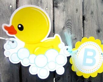 Rubber Ducky Banner - Rubber Duck Baby Shower - Rubber Duck Birthday - Rubber Duck Decorations