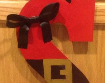 Santa Monogram Door Hanger / Christmas Ornament