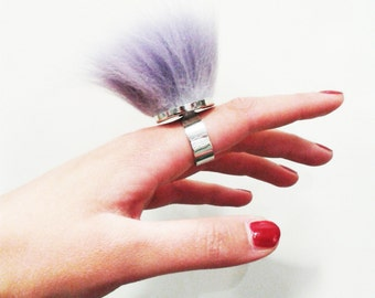 Lavender fox ring