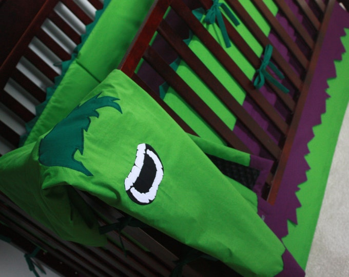 Superhero Baby Bedding--Big, Mean, and Green--Build Your Own Custom Crib Bedding-MTO