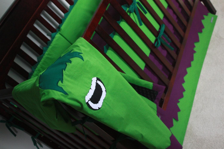 Marvel Avengers Baby Bedding--The Hulk--Custom Crib Bedding-MTO