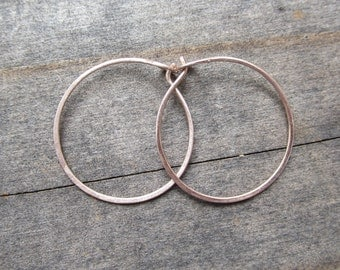 14K Solid Rose Gold Hoops|Recycled Gold|Eco Friendly|Ethical