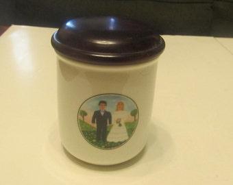 Villeroy and Boch German Porcelain Wedding Jar