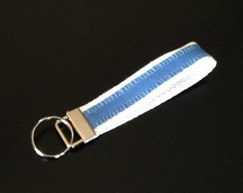 Blue and White Key Fob