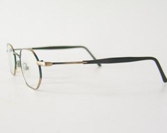 Vintage glasses original black nerd glasses transparent old school Made in Germany
