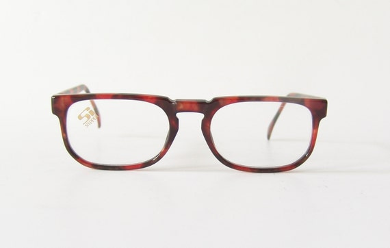 Eyeglass Frames German : Vintage eyeglasses Hans Stepper German frame red dotted specs