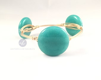The Waterside Bauble || Turquoise Coin Candy Jade Bauble Bracelet