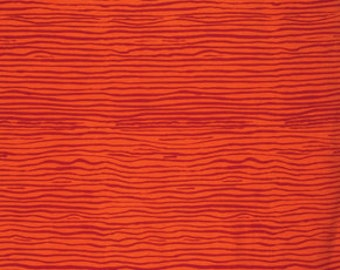 CREASED ORANGE BM050 by Brandon Mably for Kaffe Fassett Collective Sold in 1/2 yd increments