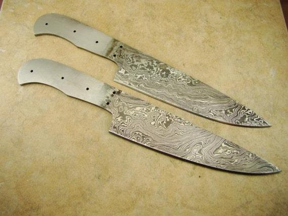 professional kitchen knife blank blade custom handmade damascus steel kitchen chef 39 s knife blank. Black Bedroom Furniture Sets. Home Design Ideas