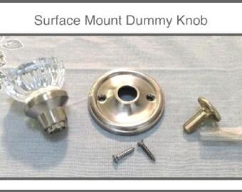 crystal dummy door knobs complete set for 1 knob upgraded hardware u0026 rosettes