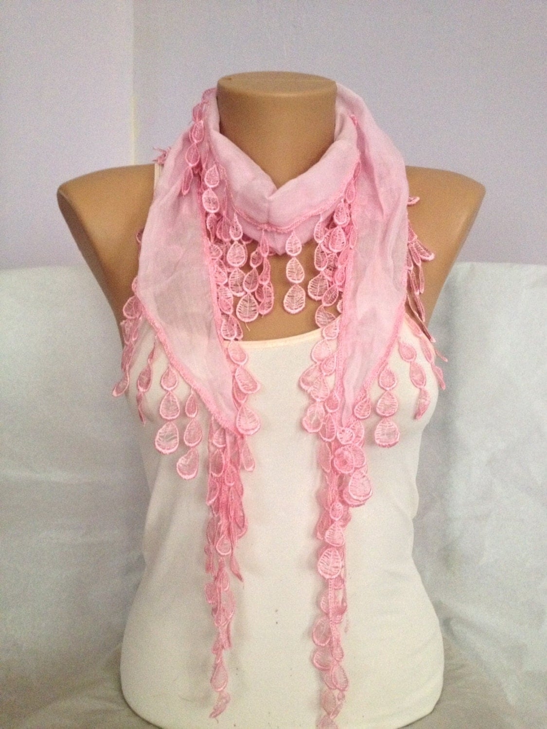 on sale pink scarf pink lace scarf bridesmaid gift by maxijoy