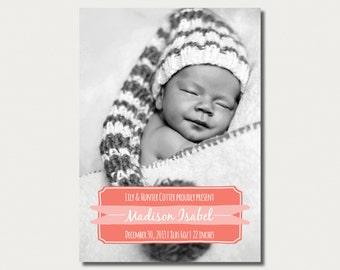 Custom Birth Announcement