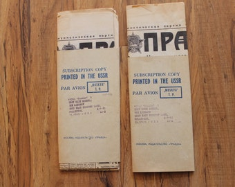 "Two 1973 USSR newspapers ""Pravda"""