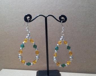 Swarovski Crystal Hoop Silver Earrings
