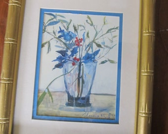 Hand Painted Acrylic Floral Painting 9 X 7