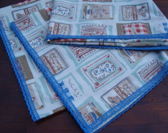 Square Table Cloth Rustic Chic Tablecloth with lase