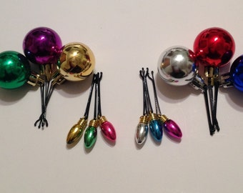 Beard Art Baubles Christmas Hipster Gift Set of 12 Lights and Ball Baubles Assorted Colors Baubles For the Beard Baubles for the Beard