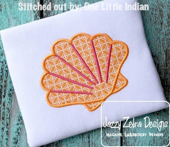 Shell 62 Applique embroidery Design - beach Appliqué Design - shell Applique Design - summer Applique Design