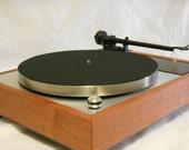 "Transformed Vintage Thorens TD-150 Turntable, Upgraded Rega Arm, Solid 3/4"" Hardwood"