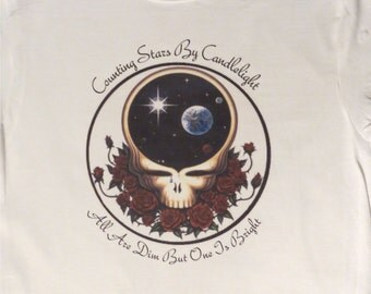 Counting Stars By Candlelight Terrapin Station Grateful Dead T~Shirt Space Your Face