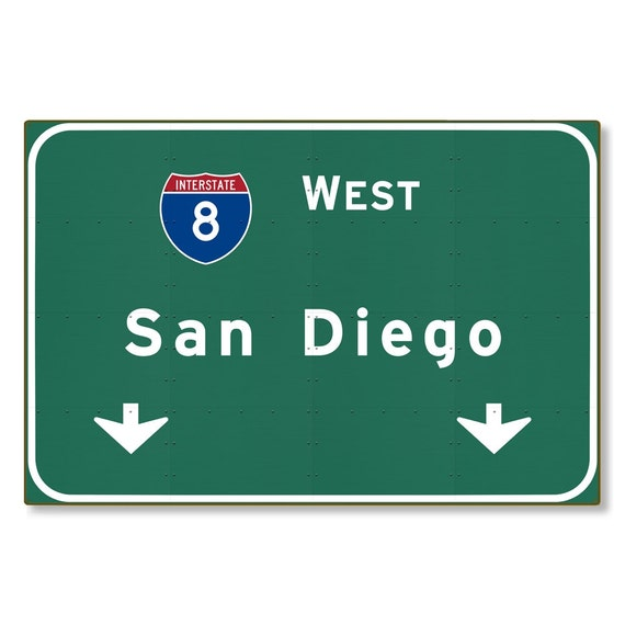 San Diego Highway Sign Steel Wall Decor Souvenir Automotive