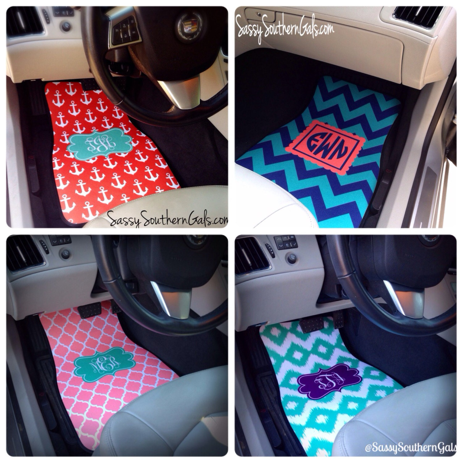 monogrammed car floor mats monogrammed car accessories for