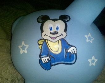 Items similar to mickey mouse pearl piggy bank on etsy Large piggy banks for adults
