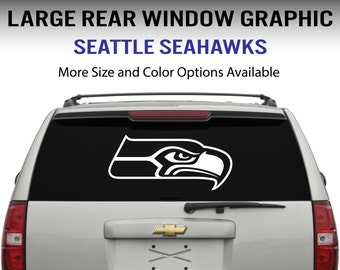 Seattle Seahawks Window Decal Graphic Sticker for Truck Car SUV