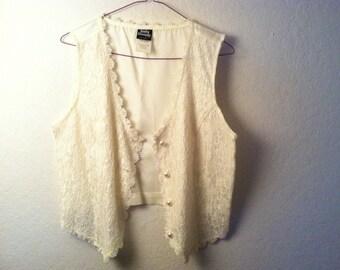 Bohemian lace vest