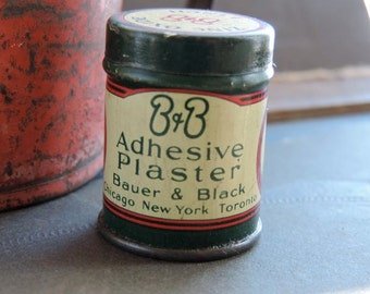 Antique B&B 1 Inch Zinc Oxide Adhesive Plaster Tin
