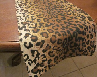 Leopard Print Table Runner, Safari Party Decorations, Jungle Baby Shower, Zoo Birthday Party Decor,