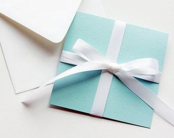 Tiffany Inspired Invitation Set , Elegant Wedding Invitation, Birthday Invitation, Shower Invitation, Layered Wedding Invites, Aqua Invites