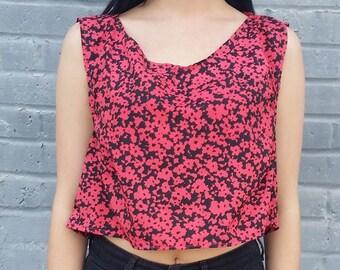 Floral Pink Crop Top