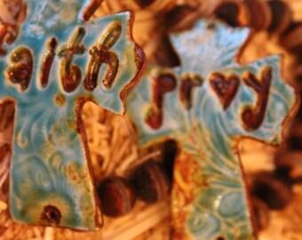 Faith/Pray Pottery Bracelet
