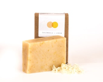 Lemon + Calendula Soap - All Natural, Vegan