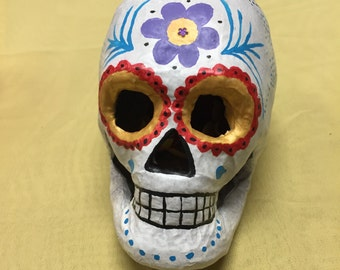 Hand Painted Paper Mache Sugar Skull Calaveras