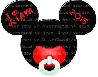 IRON-ON Baby Mickey Ears - THREE Color Options! - Mouse Ears Tshirt Transfer