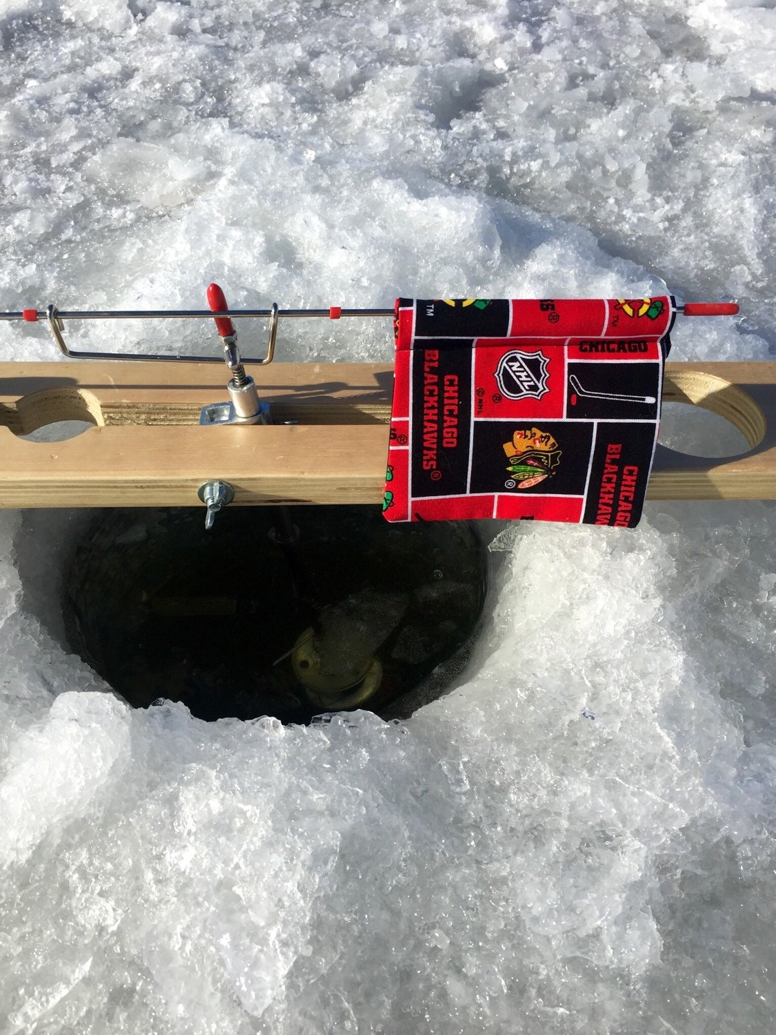Ice fishing tip up flags for Best ice fishing tip ups