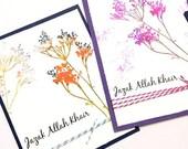 Set of 6 jazak Allah khair cards, Islamic Card, May Allah reward you with good