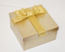 "8""x4"" Gold gift box,glitter gift box,gold box,LARGE gift box,holidays gift box,present gift box,large gold box, christmas decor,holidays"