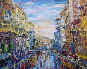 Main street in Ermoupolis, Syros, Greece-Pen King-78