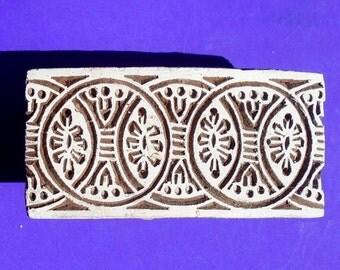 Border Stamp Hand Carved Indian Print Block (B3)