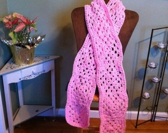 Granny square scarf - adult