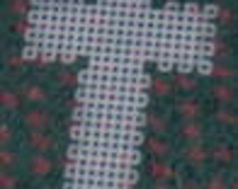 5 precut plastic canvas fancy cross
